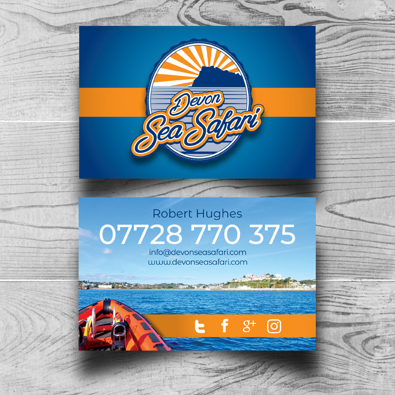 Devon Sea Safari Business Card Visual